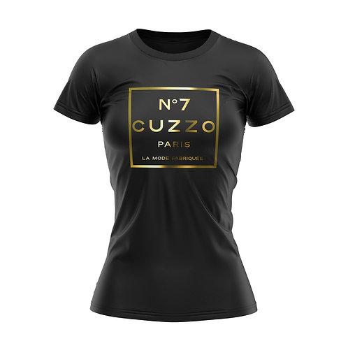 Cuzzo® Unisex Women's International Tee (Black-Gold Foil)