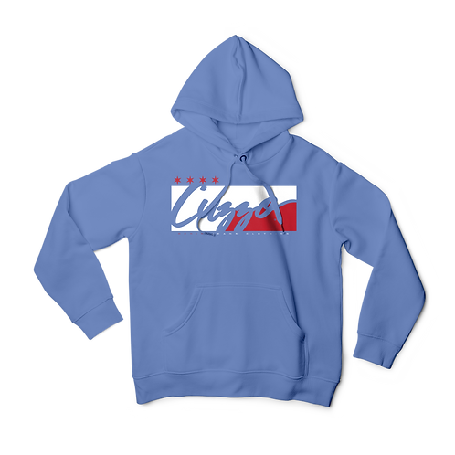 Cuzzo® **All-Star® Signature Block Hoodie  (Baby Blue-Red/White)**