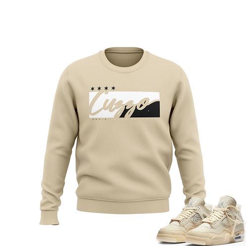 "Cuzzo® ""Signature Block"" Sweatshirt (Sand-White-Black)"