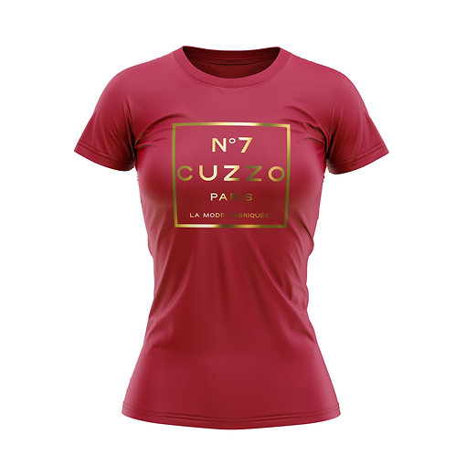 Cuzzo® Women's International Tee (Red-Gold Foil)