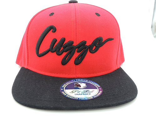 Cuzzo Signature Color-block Snapback (Red-blk)