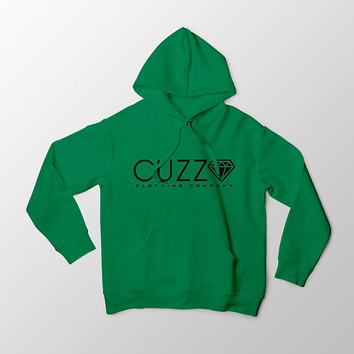 Cuzzo® Diamond Cut Hoodie (Green-Black)