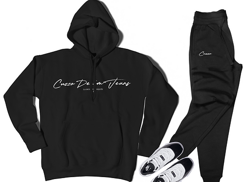 Cuzzo® Scripted Jogger Set (Black-White)