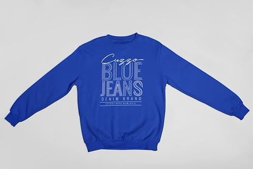 Cuzzo® Blue Jean Sweatshirt (Royal-White)