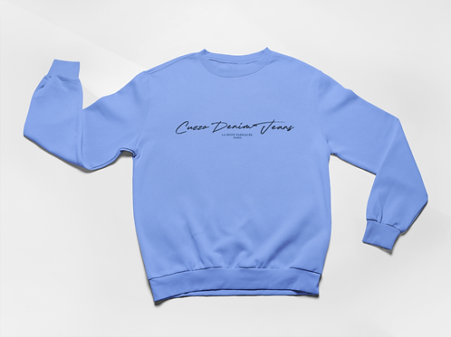 Cuzzo® Scripted Sweatshirt (University Blue)