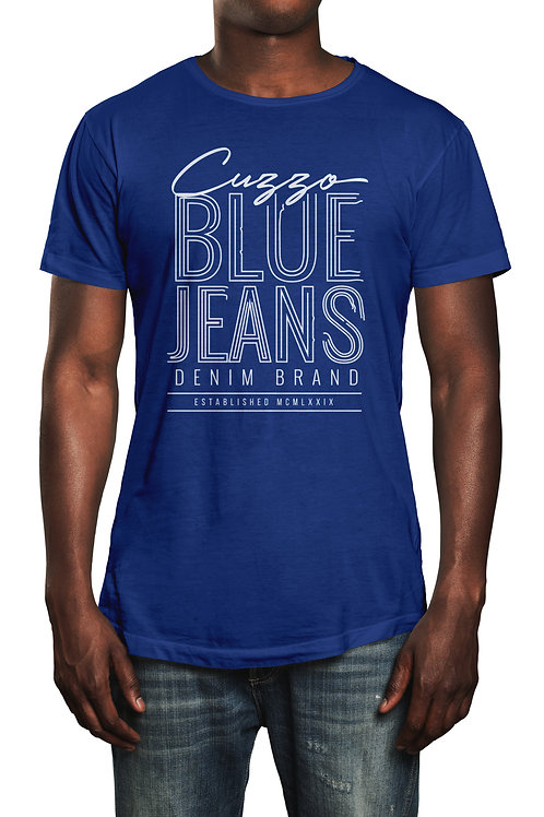 Cuzzo® Blue Jeans tee (Royal-white)
