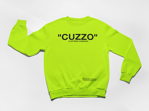 "Cuzzo® ""Quote Me"" Sweatshirt (Neon Green-Black)"