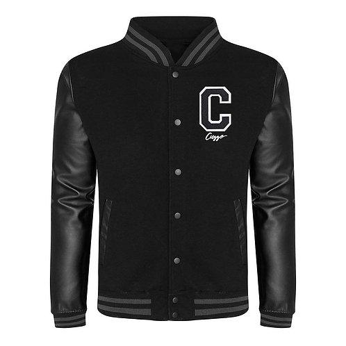Cuzzo® EXCLUSIVE Letterman Jacket (Black-Faux Black)