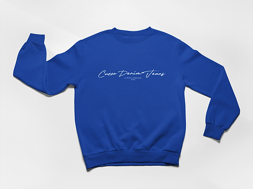 Cuzzo® Scripted Sweatshirt (Royal-White)