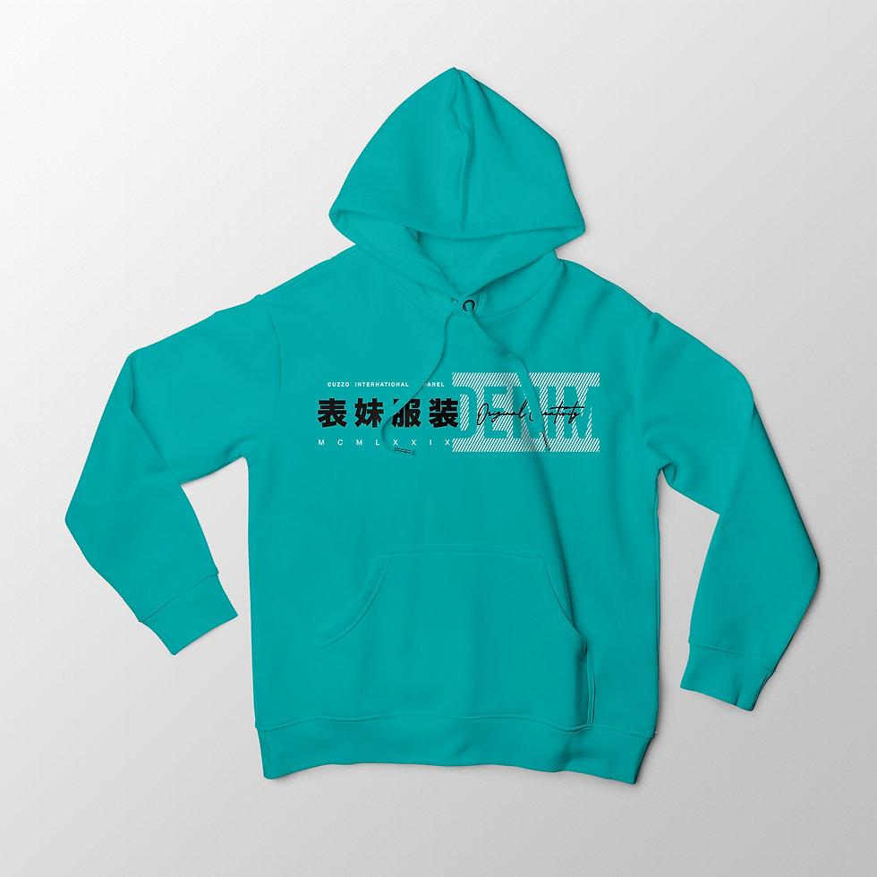 International Hoodie SCUBA Blue EXCLUSIV