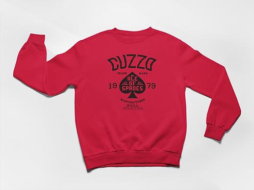 Cuzzo® Ace of Spades Sweatshirt (Red-Black)
