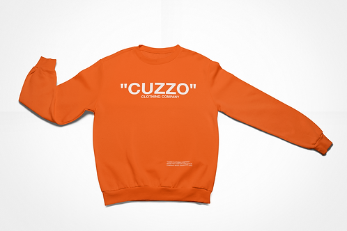 "Cuzzo® ""Quote Me"" Sweatshirt (Orange-White)"