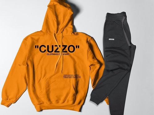 Cuzzo® Quote-ME Jogger Set (Orange-Black)