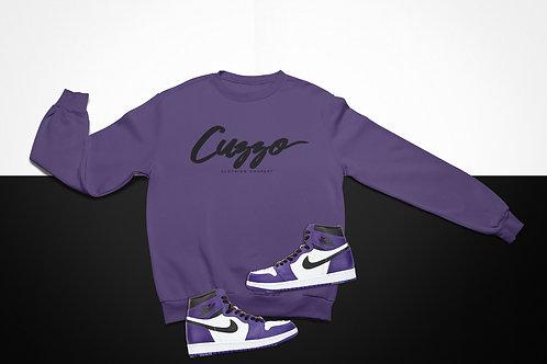 Cuzzo Black Signature Sweatshirt  (Purple-Black)