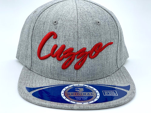 Cuzzo Signature Color-block Snapback (Heather-Red)