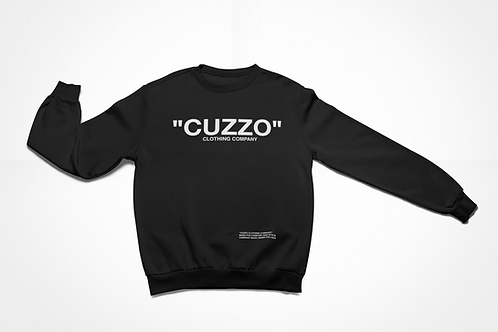 "Cuzzo® ""Quote Me"" Sweatshirt (Black-White)"
