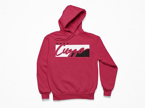 Cuzzo® Signature Block Hoodie  (Red/Black)
