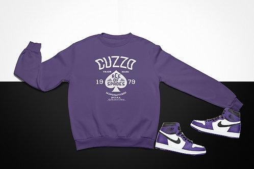 Cuzzo Ace of Spades Sweatshirt  (Purple-Black-White)
