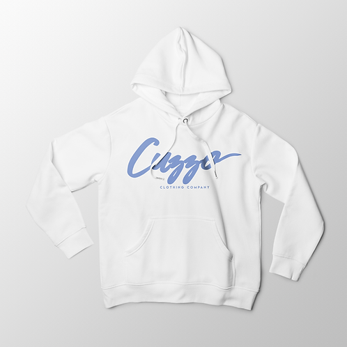 Cuzzo Signature Collection Hoodie (White-Carolina Blue)