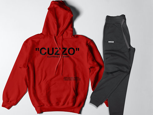 Cuzzo® Quote-ME Jogger Set (Red-Black)