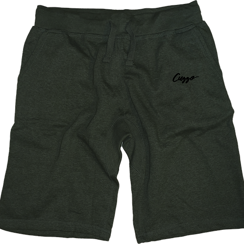 Cuzzo® Lsmall Signature Fleece Shorts (Military Heather-Black)