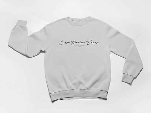 Cuzzo® Scripted Sweatshirt (White-Black)