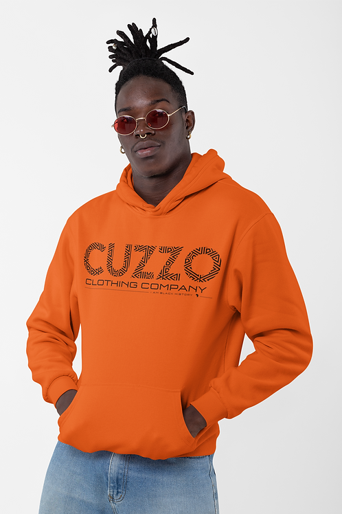 Cuzzo® I Am Black History Sweatshirt (Orange-Black)