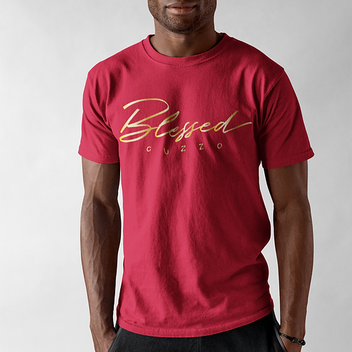 Cuzzo® Double Blessing Tee (Red-Gold Foil)