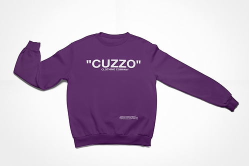 "Cuzzo® ""Quote Me"" Sweatshirt (Purple-white)"