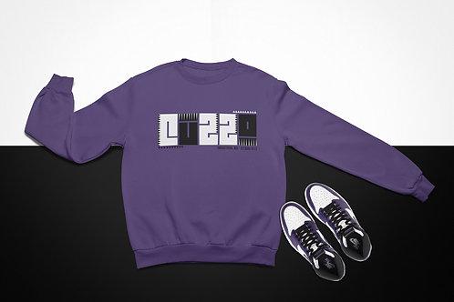 Cuzzo BHM Sweatshirt  (Purple-Black-White)