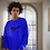 Thumbnail: Cuzzo® Black Signature Crewneck Sweatshirt (Royal)