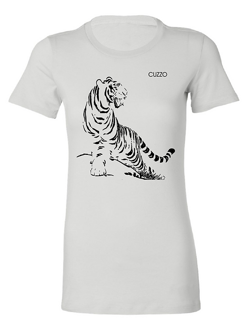 Cuzzo® Fitted Women's Tiger (White-Black Foil)