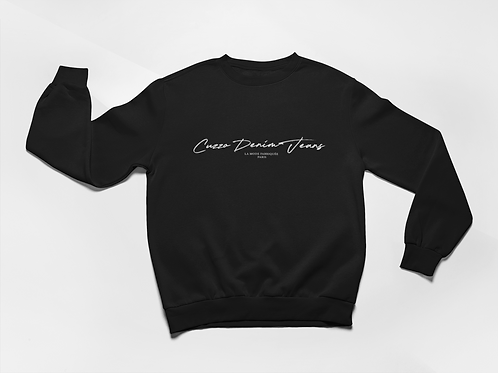 Cuzzo® Scripted Sweatshirt (Black-White)