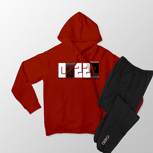 Cuzzo® BHM Jogger Set (Red/Black)