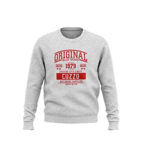 City-Limits Crewneck Sweatshirt (Heather-Red)