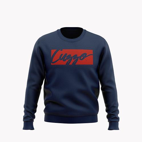 Cuzzo® Signature Block Sweatshirt  (Navy/Red)**