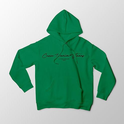 Cuzzo® Scripted Hoodie (Green-Black)