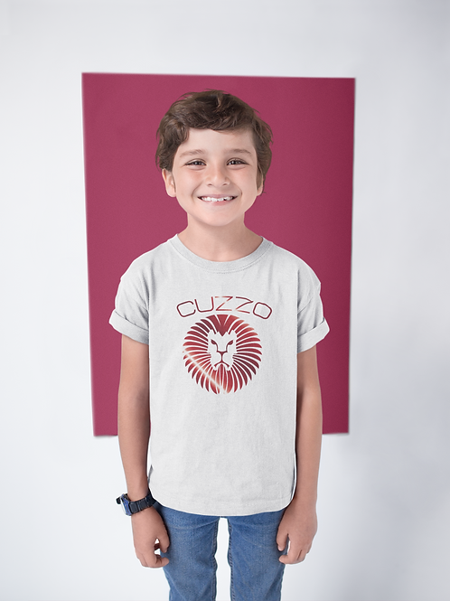 Boys Young King Kids Tee (White-Red Foil)