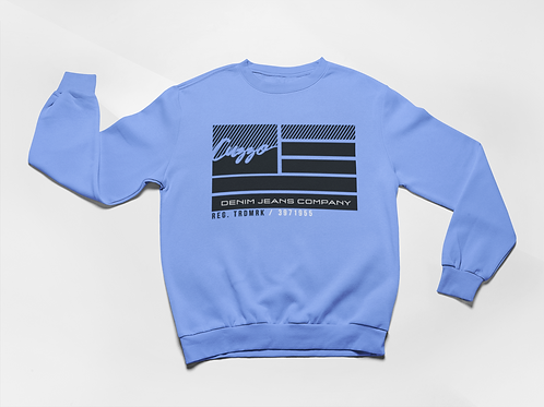 Cuzzo® Nation Flag Sweatshirt (Carolina Blue)