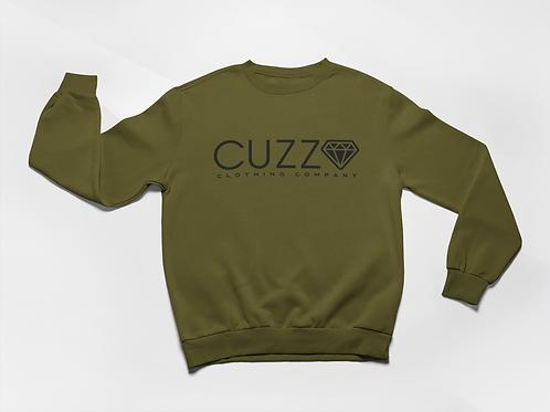 Cuzzo® Diamond Cut Sweatshirt (Military Green-Black)