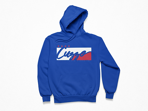 Cuzzo® Signature Block Hoodie  (Royal/White-Red)