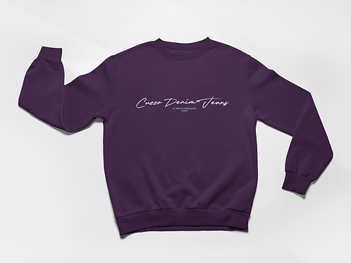 Cuzzo® Scripted Sweatshirt (Purple)