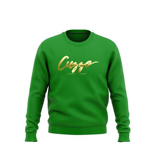 Cuzzo Signature Crewneck (Irish Green-Foil)