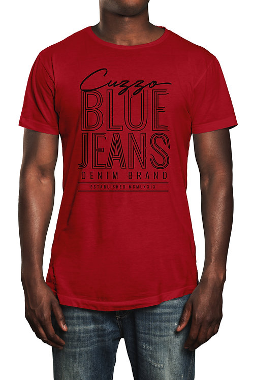 Cuzzo® Blue Jeans tee (Red-Black)