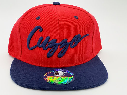 Cuzzo Signature Color-block Snapback (Red-Navy)