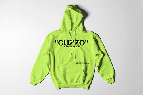 Cuzzo® Quote-ME Hoodie (Safety Green-Black)