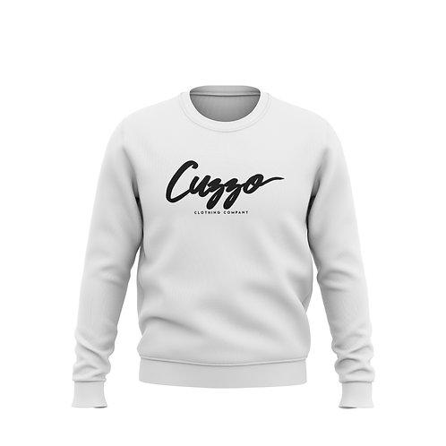 Cuzzo® Black Signature Sweatshirt (white)