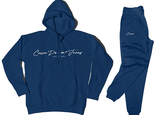 Cuzzo® Scripted Jogger Set (Royal-White)