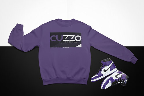 Cuzzo Astro Sweatshirt  (Purple-Black-White)