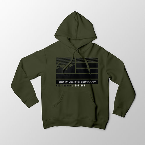 Cuzzo® Nation Flag Hoodie (Military Green)